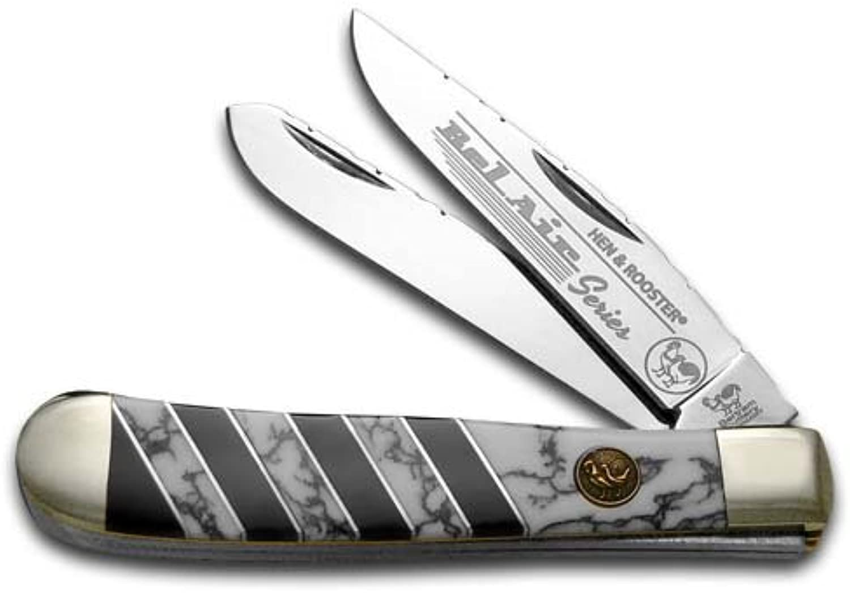 Hen and Rooster Bel Air Wildhorse Jasper Trapper Stainless Stainless Stainless Pocket Knife Knives B075ZFF9ZY  Won hoch geschätzt und weithin Grünraut im in- und Ausland Grünraut 0347db