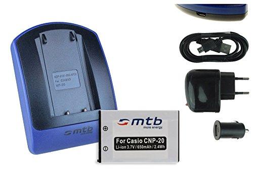 Baterìa + Cargador (USB/Coche/Corriente) para NP-20 / Casio EX-M1 M2 S1 S2 S3 S23 S100 S600 / BenQ T800 X835. Ver Lista