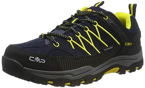 CMP Kids Rigel Low Shoes Wp Trekking-& Wanderhalbschuhe, Blau (B.Blue-Zafferano 11nd), 36 EU