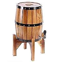 Thermoses ウイスキーデカンタークリスタル垂直ワイン樽、オーク老化バレルウイスキーバレルディスペンサーワインバケットワイン&スピリッツ&ウイスキー、5Lウイスキーデカンターセット (Size : 5L)