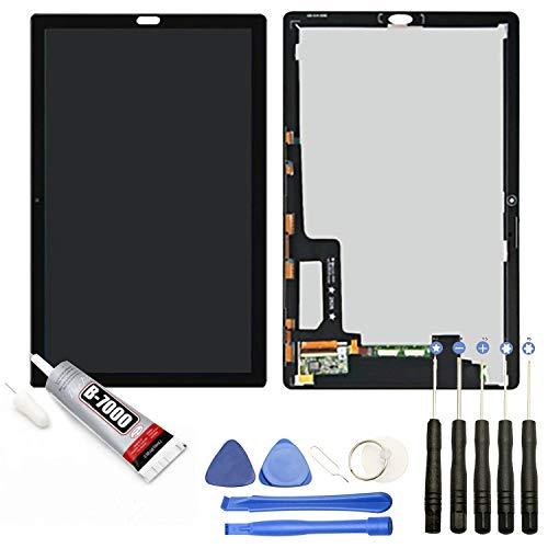 """Visiodirect® Ecran Complet: Vitre Tactile + écran LCD Compatible avec Tablette Huawei Mediapad M5 10 CMR-AL09 CMR-W09 Taille 10.8"""" Noir + Kit Outils + Colle B7000 Offerte"""