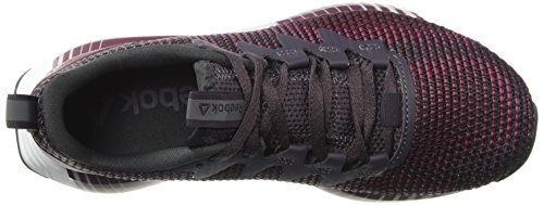 Reebok Fusion Flexweave Cage - Zapatillas deportivas ligeras para correr para mujer, morado (Volcán ahumado/Twstd Berry/R), 39.5 EU