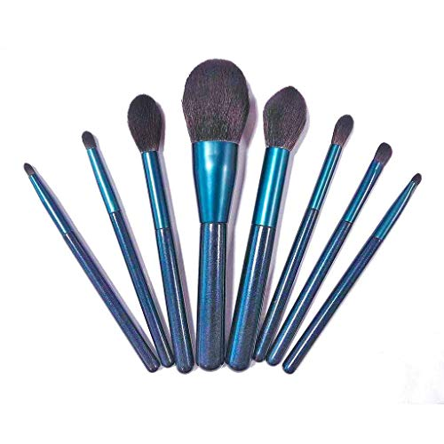Voyages Pinceaux De Maquillage Set, Beauté Synthétiques Micro Fibre Vegan Makeup Brushes Kit Cadeau Blending Poudre Fard à Paupières Poudre Liquide-8PCS
