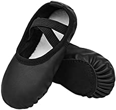 Stelle Girls Ballet Dance Shoes Slippers for Kids Toddler (Black, 2ML)