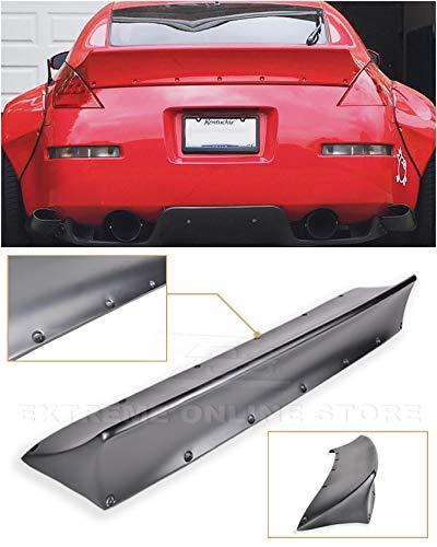 Replacement for 2003-2008 Nissan 350Z Fairlady Z34   EOS Rocket Bunny Style Fiberglass Primer Black Duckbill Rear Trunk Lid Wing Spoiler