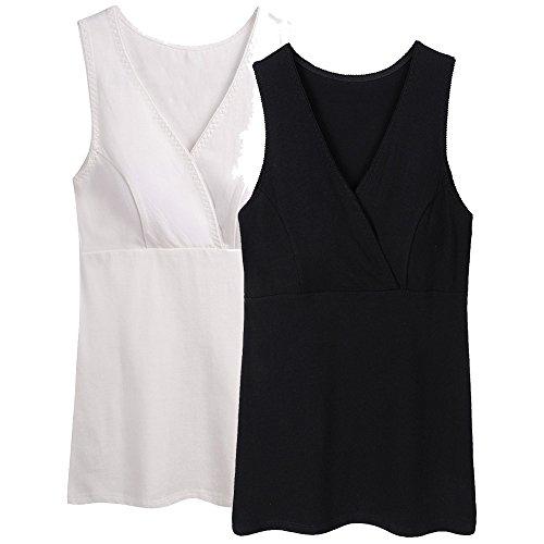 ZUMIY Abbigliamento Premaman Top, maternità Vest Reggiseno al Seno Canotta Gravidanza T-Shirt del Tank