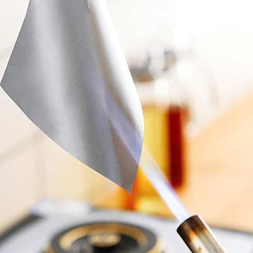 XiangXin Protecteur de cuisinière résistant à la Chaleur 27 cm, résistant au Lave-Vaisselle, Tapis de cuisinière à gaz réutilisable 6 pièces, pour Accessoire de Cuisine de Restau