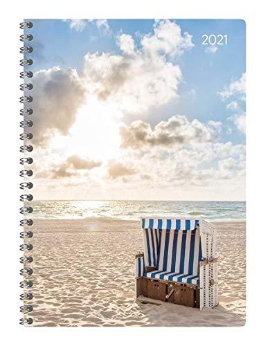 Ladytimer Ringbuch Beach 2021 - Taschen-Kalender A5 (15x21 cm) - Schüler-Kalender - Weekly - Ringbindung - 128 Seiten - Alpha Edition