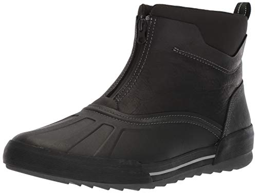 Clarks Men's Bowman Top Boot, Black Leather, 12 W US