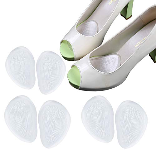 Ballenpolster (4 Paar/8 Stück) Schuheinlagen für High Heels Gelkissen für Fußballen (4 Paar/8 Stück)