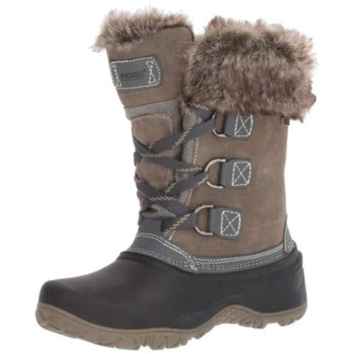Khombu New Womens Slope All-Terrain Winter Boots Grey Size 7 M