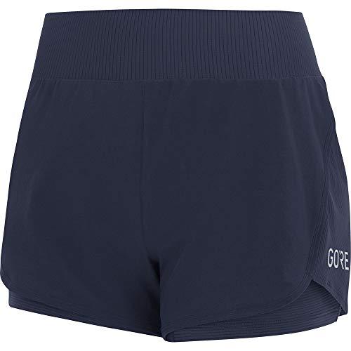 GORE WEAR R7 Femme Short 2in1, Orbit Blue, FR : M (Taille Fabricant : 38)