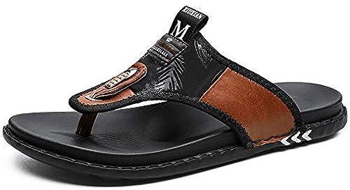 L-X Sandales Orthopédiques Légers Occasionnels de Grande Taille Sandales de Grande Taille Résistant à l'usure Anti-Usure Extérieure Sandales Chaussures de Plage en Plein Air, Marron, 38 UE