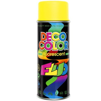 Deco Color DC Lackspray Neon 400ml freie Farbauswahl (Neonlack Gelb 400ml)