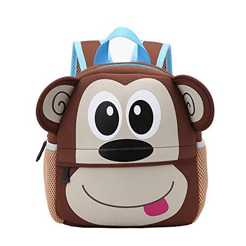Kinderschooltas Kleuterschool Cartoon Rugzak Dierlijk Duiken Materiaal Tas monkey