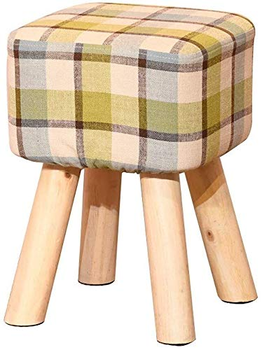 MMWYC Banc de Chaussures Tabouret Creative Repose-Pieds Petit Tabouret Massif Chaise en Bois Tabouret Maison Multi-Fonction (Color : Green)