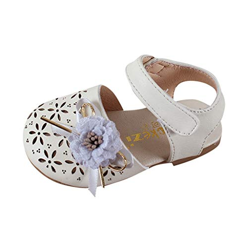 Fenverk Babyschuhe MäDchen Schuhe Prinzessin Schnee KöNigin Gelee Partei Sandalen Kleinkind Blumen Weichen Sohlen Baby Schuhekleinkind(Beige 5,20.5 EU)