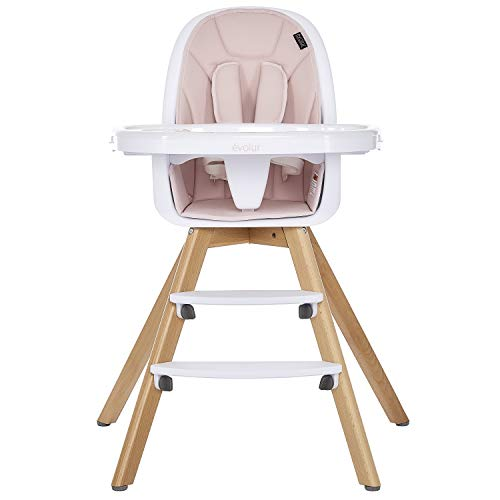 Evolur Zoodle 2-in-1 High Chair I Booster Feeding Chair I Modern Design I Toddler Chair I Removable Cushion I Adjustable Tray I Baby, Infant, and...