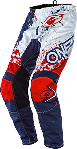 O'Neal Element Impact Moto Cross Hose MX Enduro MTB DH Downhill Freeride Trail All Mountain Bike, E010, Farbe Blau Rot, Größe 32