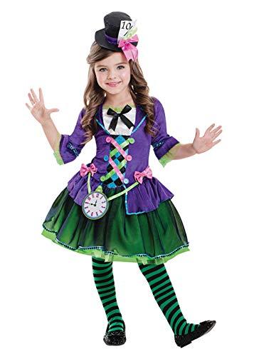 Amscan Disfraz de gótico Sombrerero Loco gótico para niños XL (11 ...