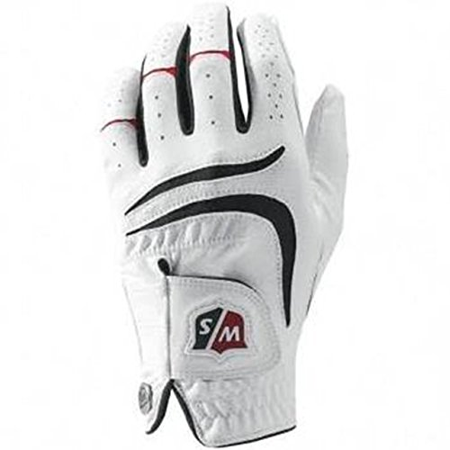 Wilson Golf WGJA00680ML Gants de golf Homme(Main Gauche ), Blanc, M-L