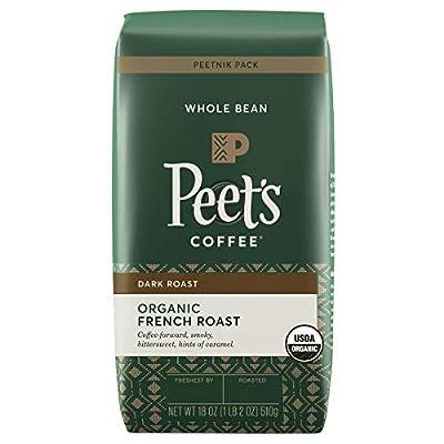Peet's Coffee Organic French Roast, Dark Roast Whole Bean Coffee, 18 oz