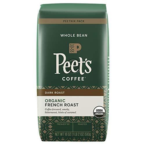 PEETS COFFEE & TEA French Roast Blend Whole Beans 18OZ, 18 OZ