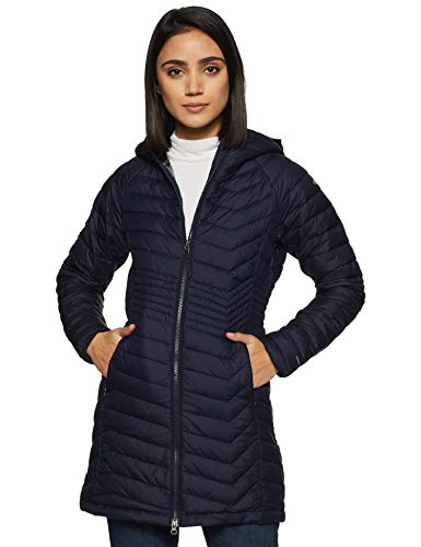 Columbia Damen Powder Lite Mittellange Jacke, blau (Dark Nocturnal), XL