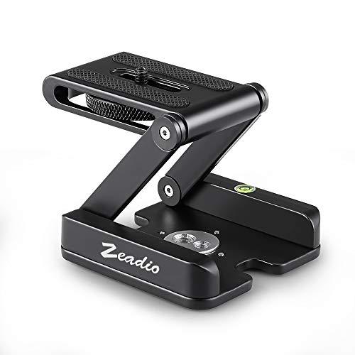 """Zeadio Faltbare Schnellwechselplatte aus Metall, mit 1/4 \""""Schraube für Stativ, Einbeinstativ, Gleitschiene, Stabilisator, DSLR, SLR - Camcorder etc"""