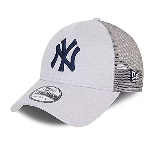 New Era York Yankees Home Field Beige 9Forty Trucker Strapback Cap - One-Size