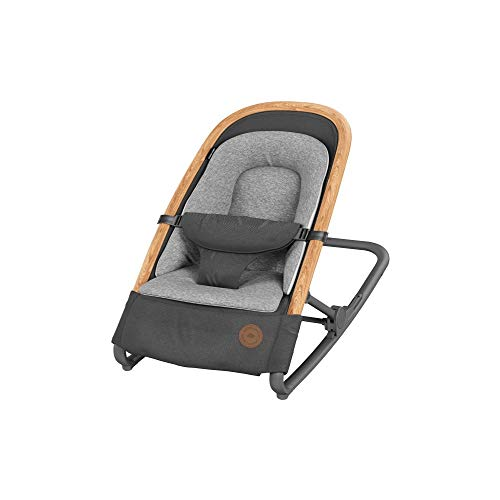 Bébé Confort Kori Transat bébé 2 en1, Transat Léger avec Réducteur Confortable pour Nouveau-Né, de La Naissance à 9 Mois (0-9 Kg), Essential Graphite