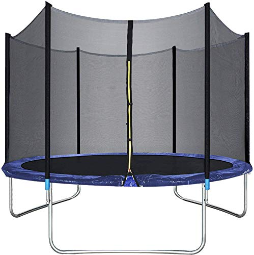 good quality trampolines 10FT Trampoline with Safety Enclosure Net Combo Bounce Jump Outdoor Fitness Trampoline PVC Spring Cover Padding for Kids