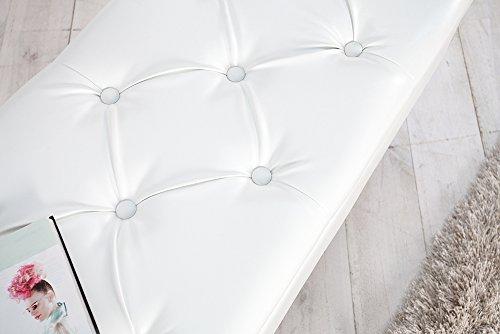 Edle Design Truhenbank BOUTIQUE, weiß, 110cm - 5