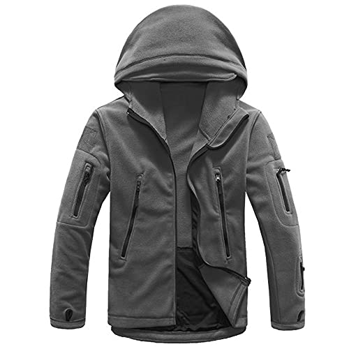 Chaqueta táctica militar polar para hombre con capucha profesional al aire libre