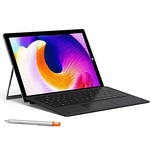 CHUWI UBook X 12 inch Touchscreen Tablet PC Bundled with Keyboard and Stylus Pen, 8GB RAM 256GB SSD, 2160x1440 Pixels Display,Intel N4100 Quad Core Processor, Type-C Dual Wi-Fi, Windows 10 - Gray