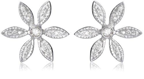 MIORE Damen-Ohrringe 18 Karat (750) Weißgold 2 Diamanten 0.3 Karat M0485P
