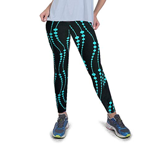 KUKICAT Damen Laufhose Sporthose Sport Leggings Tights Digitale Stretch-Leggings mit hoher Taille an der Hüfte, die Fitness-Yoga-Hosen mit neun Hosen ausführen