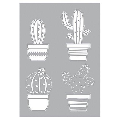 29 Cactus Parti Stencil 7/X 21/X 0 1/cm Bianco Plastica efco 9320954/Stencil