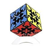 Oostifun MO FANG GE Gear Cube 3x3x3 Puzzle Cube Puzzle 3D 3x3x3 Cubo Smooth Puzzle Smooth Cube Twist Puzzle con un cubo treppiede (Nero)