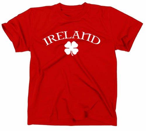 Irland Ireland T-Shirt, Kleeblatt Flagge, rot, M