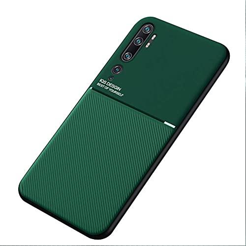 Kepuch Mowen Case Capas Placa de Metal Embutida para Xiaomi CC9 Pro/Note 10/Note 10 Pro - Verde
