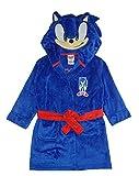 Sonic The Hedgehog Boy's Costume Plush Fleece Robe, Sonic Blue, 8