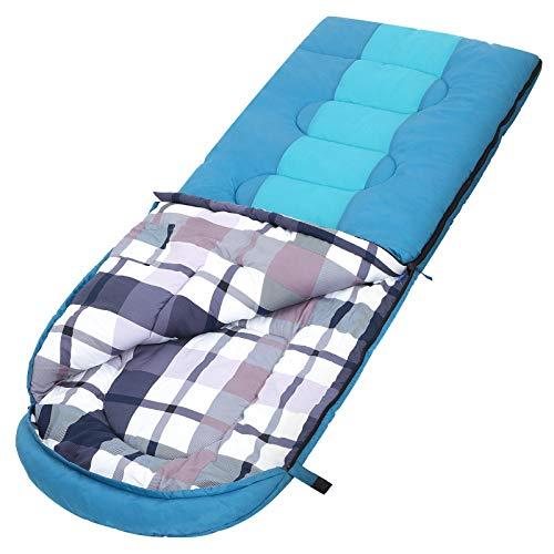 SONGMICS Saco de Dormir Grande con Bolsa de Compresión, Temperatura I