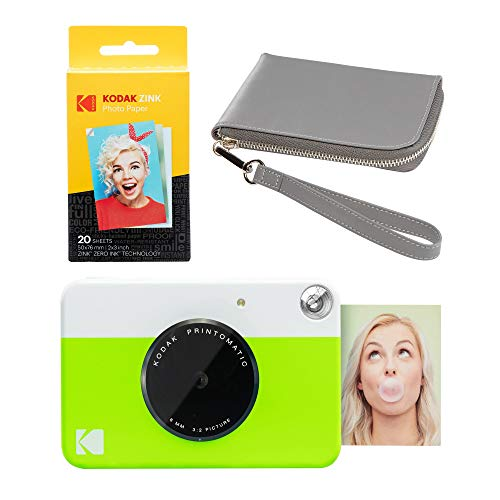 Kodak PRINTOMATIC - Kit de funda para cámara de impresión instantánea (verde), color gris