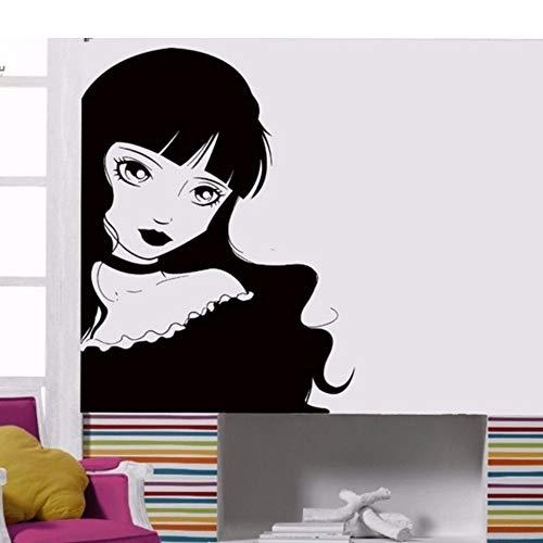 Wzxhn Vinilo Tatuajes De Pared Lolita Chica Gótica Sexy De Dibujos Animados Habitación Interior De Arte Decoración Pegatinas 57 * 76 Cm