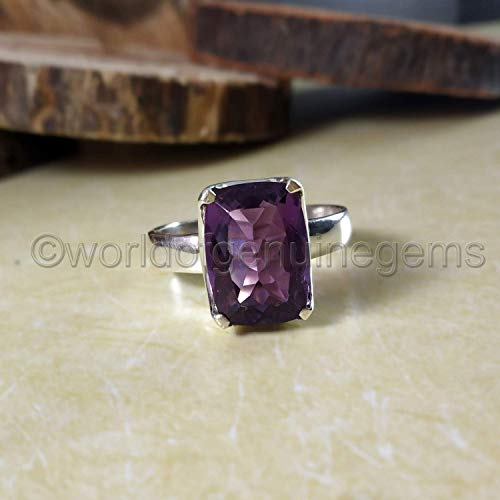 Dainty Jewelry Christmas Gift Birthstone 14k solid gold Natural Purple Amethyst Ring