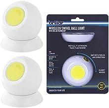 LED Night Light Sleep Night Light Relaxing Warm Light Cordless Battery-Powered 360 Degree Rotation COB LED Swivel Ball Lig...