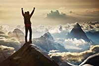 ERZAN1000ピース木製パズル山に立つ登山家創造的なギフト1000ピース ジグソーパズル