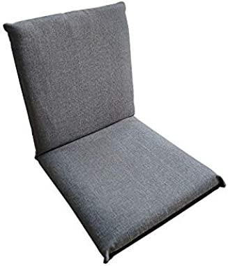 MMK Lazy Sofa Adult Bean Bag Chair Small Seat fold Balcony Bed Floor mat Classic (Color : Gray)