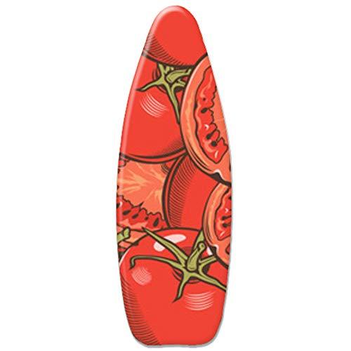 Padwspro Funda para Tabla de Planchar, Algodón cómodo Exquisito avanzado, Se Adapta a Tablas estándar de 150x50 cm, Funda para Tabla de Planchar con Ajuste de cordón, Rojo